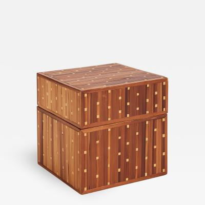 Jean Michel Frank Art Deco Straw Marquetry Box