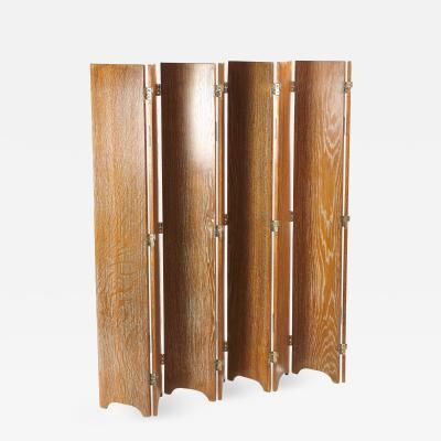 Jean Michel Frank Cereused Oak Screen Jean Michel Frank