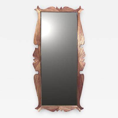 Jean Michel Frank French 1940s Straw Veneered Rectangular Shaped Frame Wall Mirror