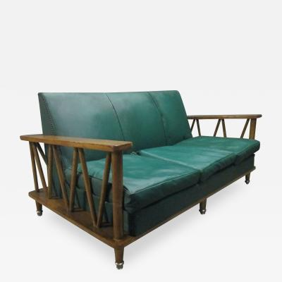 Jean Michel Frank French Cerused Oak Loveseat in the Style of Jean Michel Frank