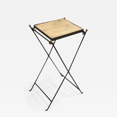 Jean Michel Frank French Modern Neoclassical Iron and Marble Table in Manner of Jean Michel Frank