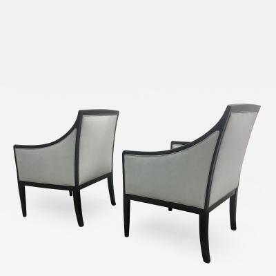 Jean Michel Frank J M Frank Style Pair of Chicest Armchairs Newly Covered in Velvet