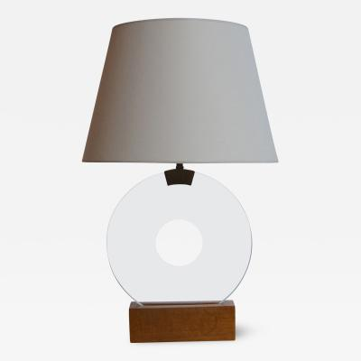 Jean Michel Frank Pair of Disk Table Lamps by Jean Michel Frank