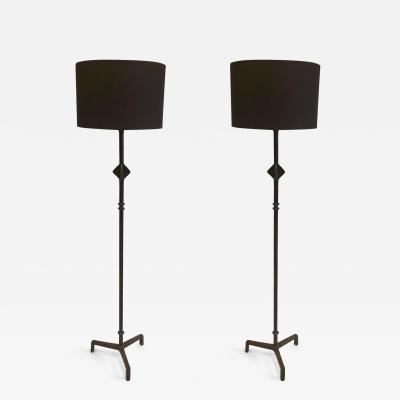 Jean Michel Frank Pair of French Bronze Star Floor Lamps after Giacometti Jean Michel Frank