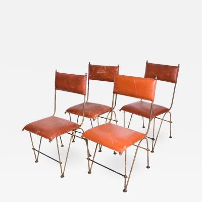 Jean Michel Frank Set of Four Modernist Dining Chairs Attr Jean Michel Frank