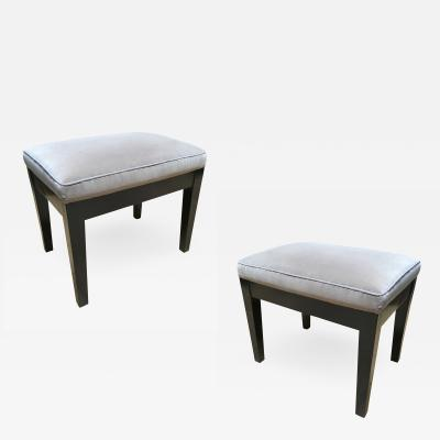 Jean Michel Frank Style of Jean Michel Frank Pair of Stools