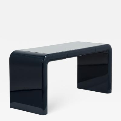 Jean Michel Frank Waterfall Desk with Blue Lacquer 1980s
