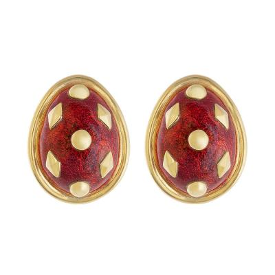 Jean Michel Schlumberger Schlumberger Dot Lozenge enamel earrings