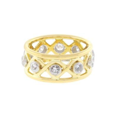 Jean Michel Schlumberger Schlumberger for Tiffany Co Diamond X Ring