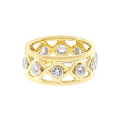 Jean Michel Schlumberger Schlumberger for Tiffany Co Diamond X Ring