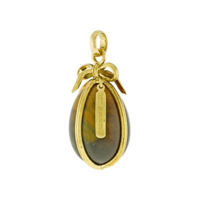 Jean Michel Schlumberger Schlumberger for Tiffany Co Large Tigers Eye Egg Charm