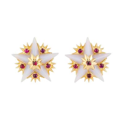 Jean Michel Schlumberger Tiffany Co Schlumberger Star Earrings