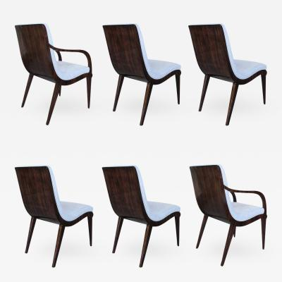 Jean Pascaud Dining Chairs Set of Six