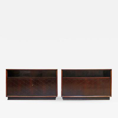 Jean Pascaud Fine Pair of French Art Deco Cabinets by Jean Pascaud