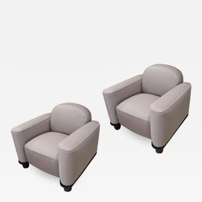 Jean Pascaud Jean Pascaud comfy fully restored pair of big club chair