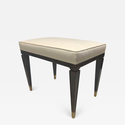 Jean Pascaud Jean Pascaud neo classic superb brown cloudy lacquer stool