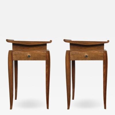 Jean Pascaud Jean Pascaud pair of refined side tables or bedsides