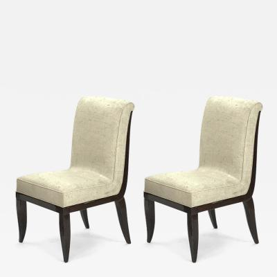 Jean Pascaud Jean Pascaud pair of side chairs
