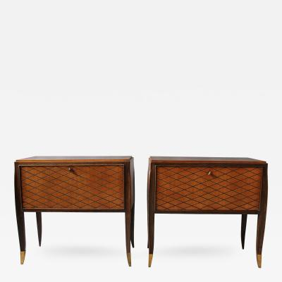 Jean Pascaud Pair of Fine French Art Deco Rosewood Cabinets or Commodes by Jean Pascaud