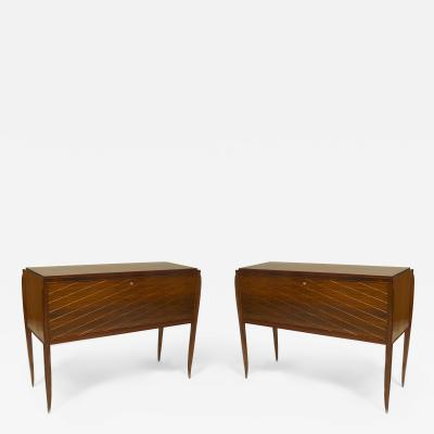 Jean Pascaud Pair of French 1940s Rosewood Commodes