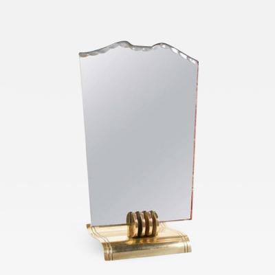 Jean Pascaud Stylish Vanity Mirror Attributed to Jean Pascaud