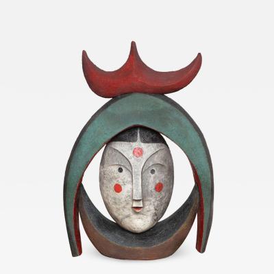 Jean Paul Bonnet Harlequeen Ceramic Sculpture by Jean Paul Bonnet