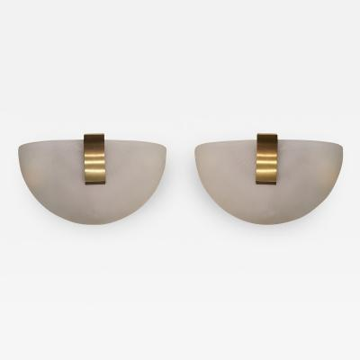 Jean Perzel 2 Pair of French Art Moderne Wall Sconces