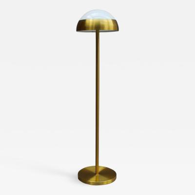 Jean Perzel Fine French 1950s Brass and Glass Floor Reading Lamp by Jean Perzel