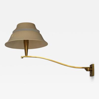 Jean Perzel Fine French 1950s Pivoting Wall Sconce by Jean Perzel