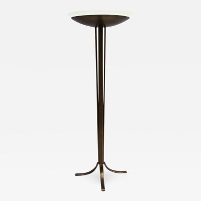 Jean Perzel Fine French Art Deco Bronze and Glass Floor Lamp by Perzel