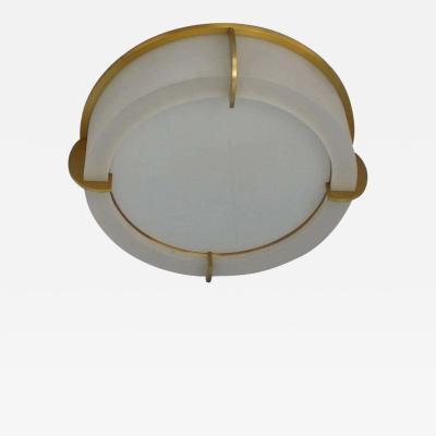 Jean Perzel Fine French Art Deco Glass and Bronze Ceiling Light by Jean Perzel