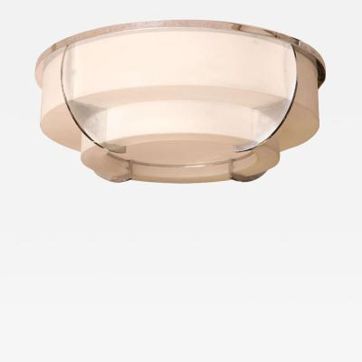 Jean Perzel JEAN PERZEL Large Modernist Ceiling Fixture Pair Available