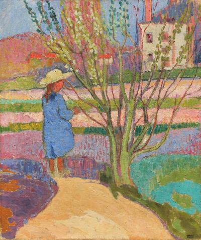 Jean Pesk Fillette au Jardin