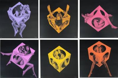 Jean Pierre Vasarely Double Six Serigraphs