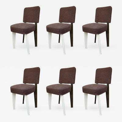 Jean Prouv 6 Chairs by Jean Prouv France 1950