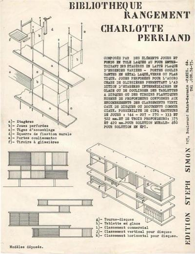 Jean Prouv Charlotte Perriand by Steph Simon Editions Booklet Print