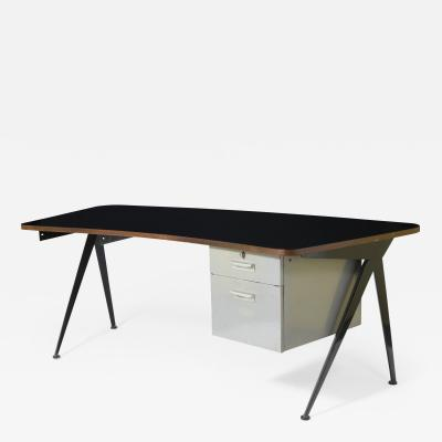 Jean Prouv Curved compass desk