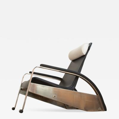 Jean Prouv Grand Repos Lounge Chair Jean Prouv Black Leather Reclining Edited by Tecta
