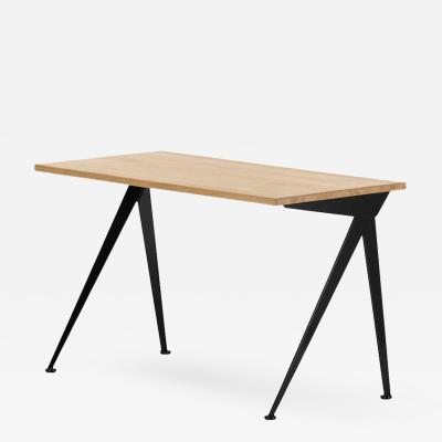 Jean Prouv Jean Prouv Compas Direction Desk in Natural Oak and Black Metal for Vitra