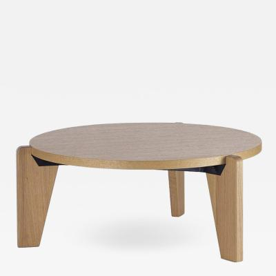Jean Prouv Jean Prouv Gu ridon Bas Coffee Table in Natural Oak for Vitra