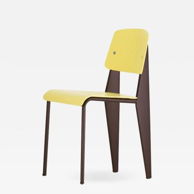 Jean Prouv Jean Prouv Standard Chair SP in Citron and Chocolate for Vitra