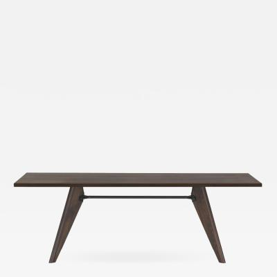 Jean Prouv Jean Prouv Table Solvay in Dark Smoked Oak for Vitra