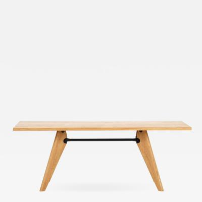 Jean Prouv Jean Prouv Table Solvay in Natural Oak for Vitra