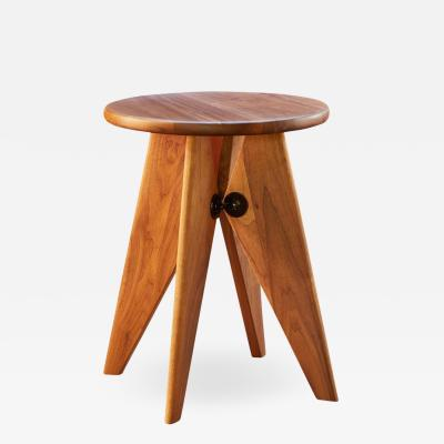 Jean Prouv Jean Prouv Tabouret Solvay Stool in American Walnut by Vitra