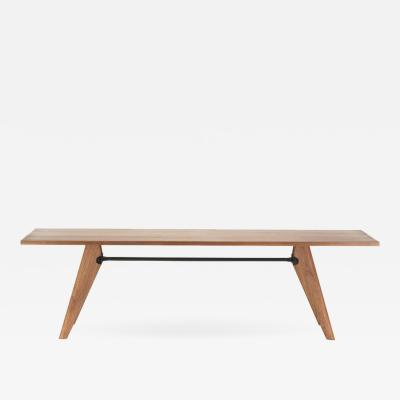 Jean Prouv Large Jean Prouv Table Solvay in American Walnut for Vitra