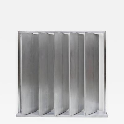Jean Prouv Louvered Metal Room Divider Screen in the Manner of Jean Prouve
