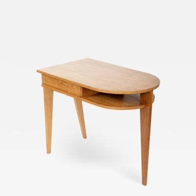Jean Prouv Oak Three Legged Desk in the manner of Jacques Adnet