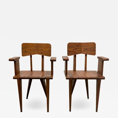 Jean Prouv Pair of French Armchairs in the Manner of Jean Prouve