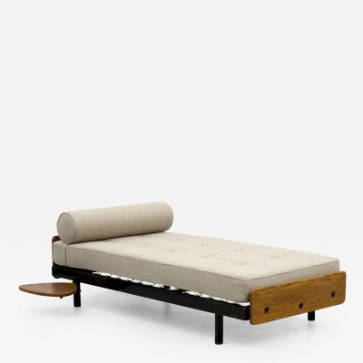 Jean Prouv Rare S C A L Daybed by Jean Prouve with Swivel Shelf Charlotte Perriand 1950s