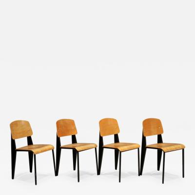 Jean Prouv Set Of Four Jean Prouv Standard Chairs 1950s